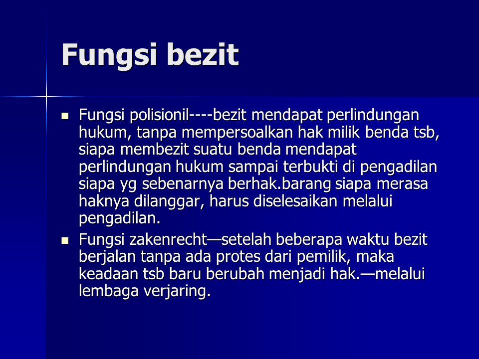 Fungsi bezit