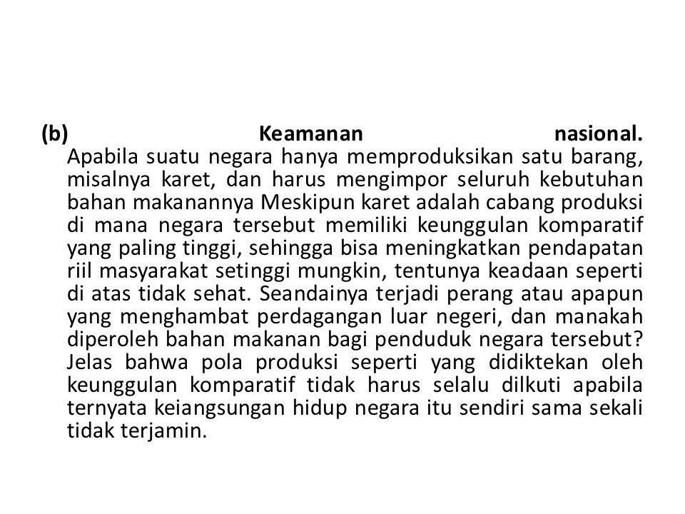 (b) Keamanan nasional.