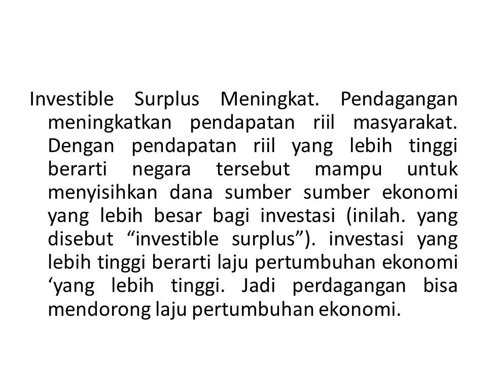 Investible Surplus Meningkat