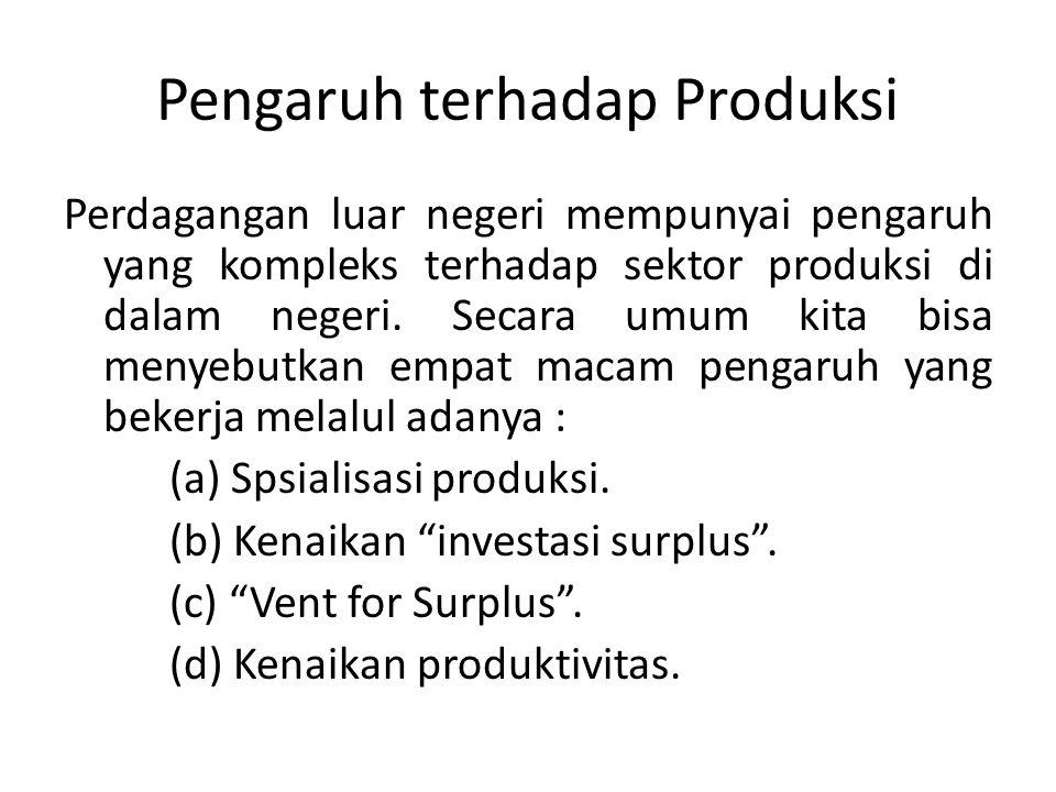 Pengaruh terhadap Produksi