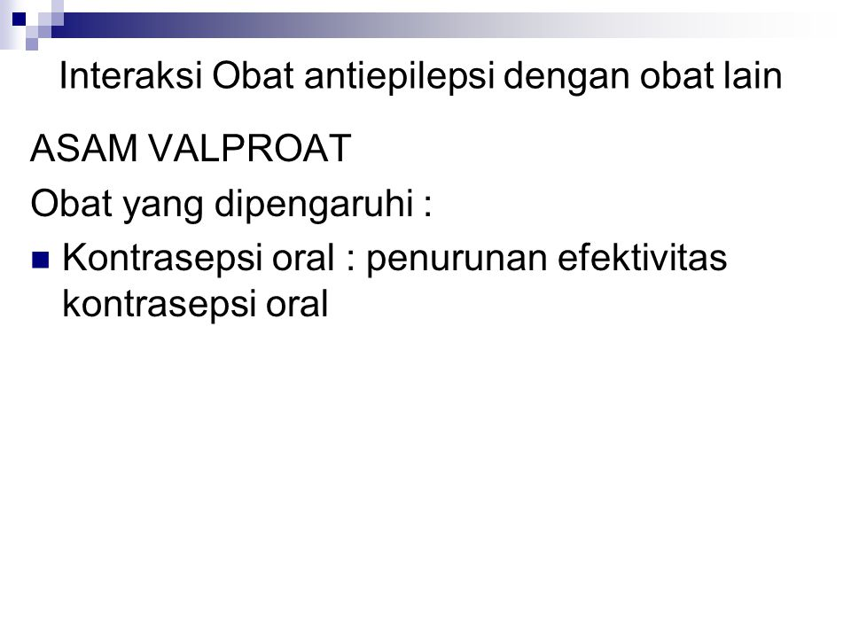 Interaksi Obat antiepilepsi dengan obat lain