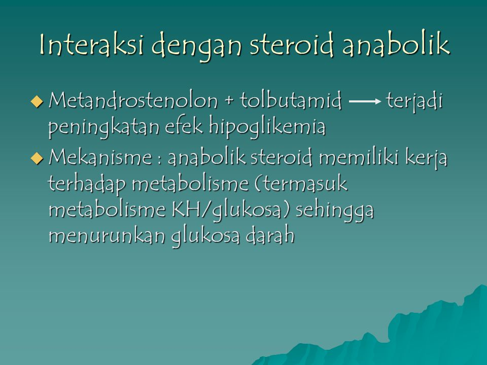 Interaksi dengan steroid anabolik