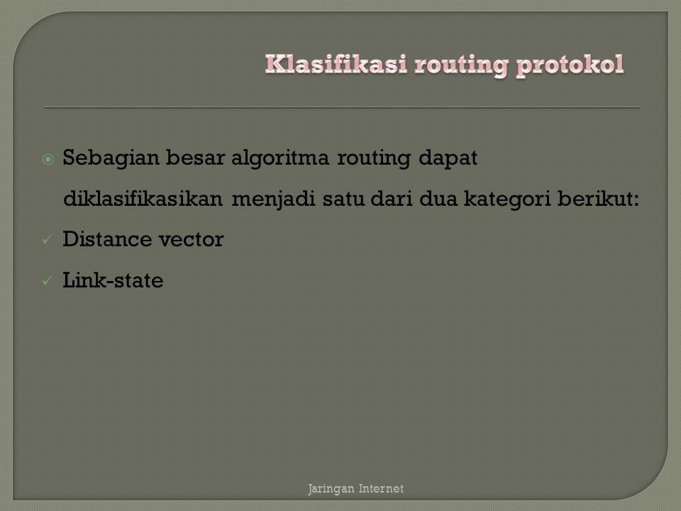 Klasifikasi routing protokol