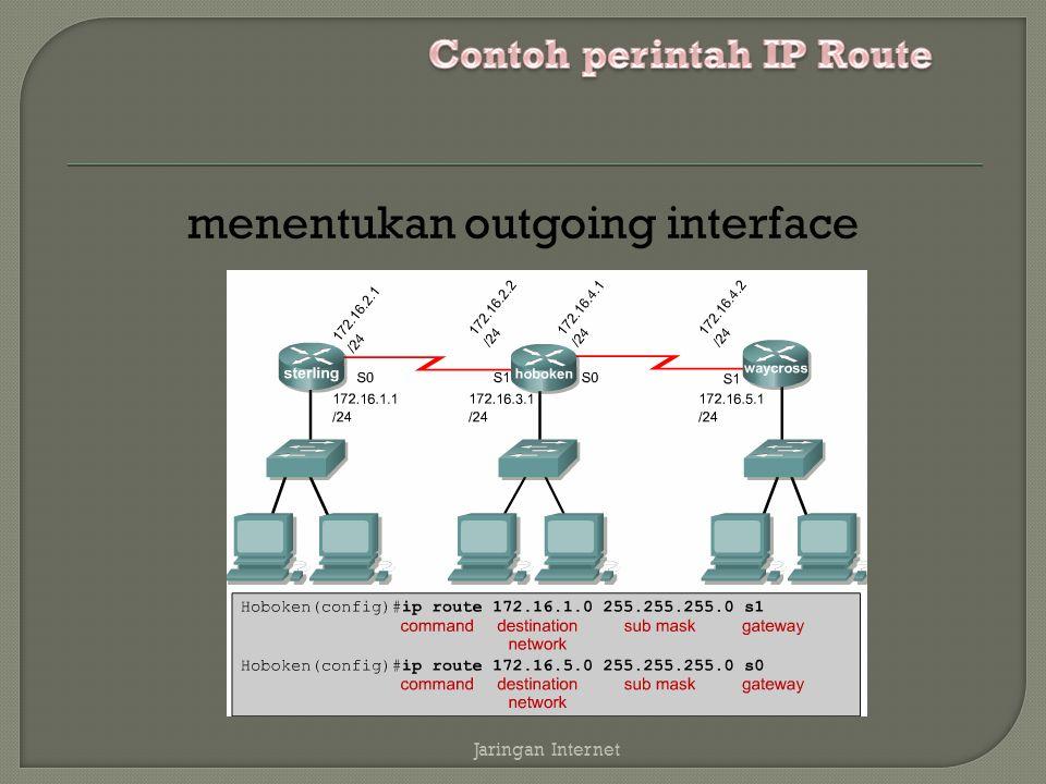 Contoh perintah IP Route