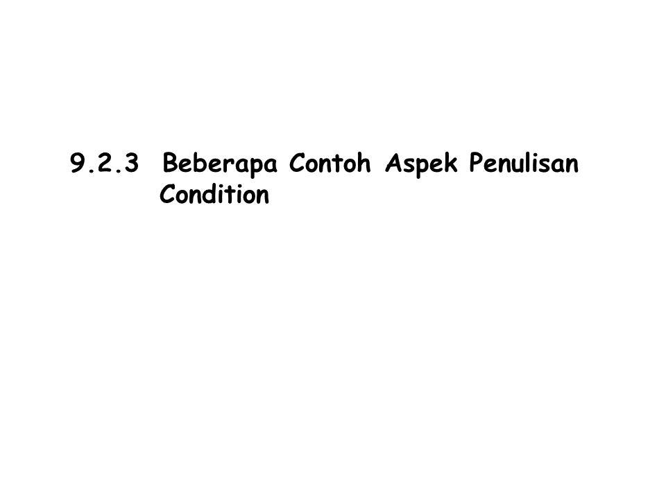 9.2.3 Beberapa Contoh Aspek Penulisan