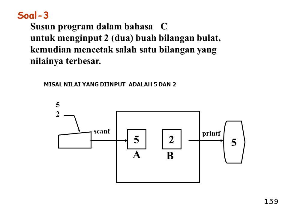 5 5 2 A B Soal-3 Susun program dalam bahasa C