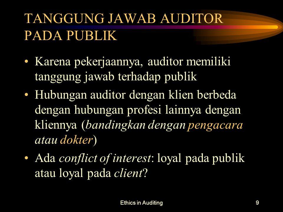 TANGGUNG JAWAB AUDITOR PADA PUBLIK