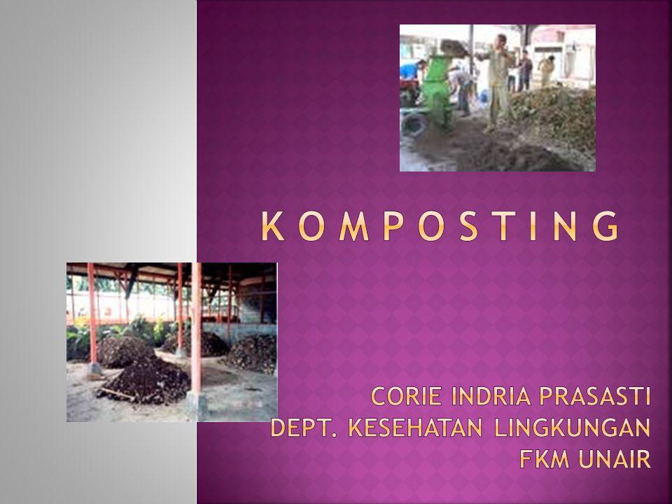 K O M P O S T I N G Corie indria prasasti Dept. kesehatan lingkungan