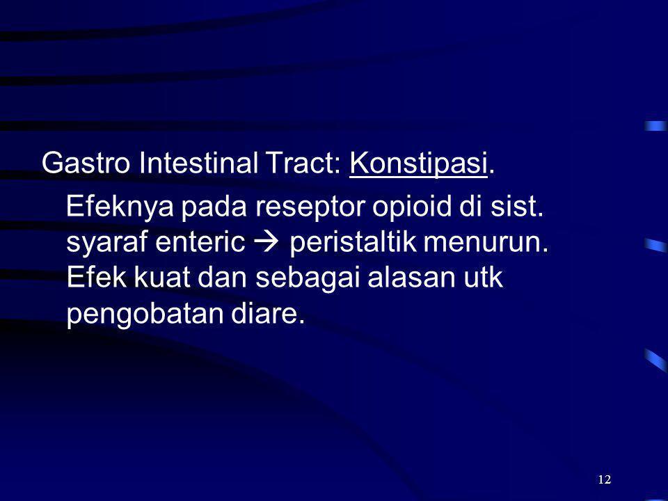 Gastro Intestinal Tract: Konstipasi.