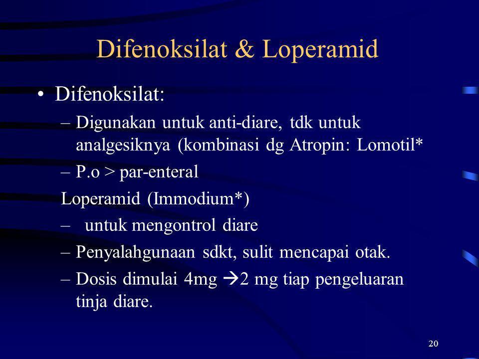 Difenoksilat & Loperamid