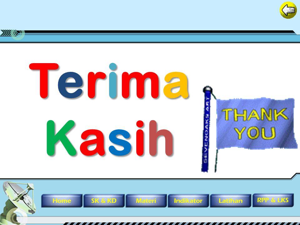 Terima Kasih Home SK & KD Materi Indikator Latihan RPP & LKS