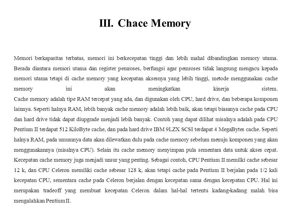 III. Chace Memory