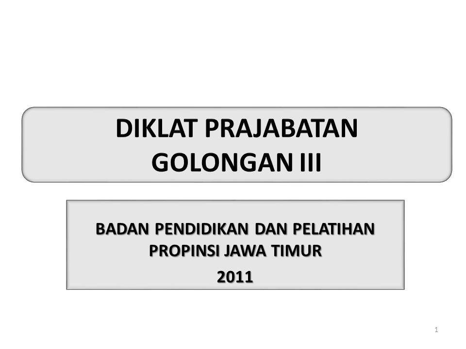 DIKLAT PRAJABATAN GOLONGAN III