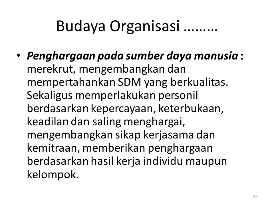 Budaya Organisasi ………