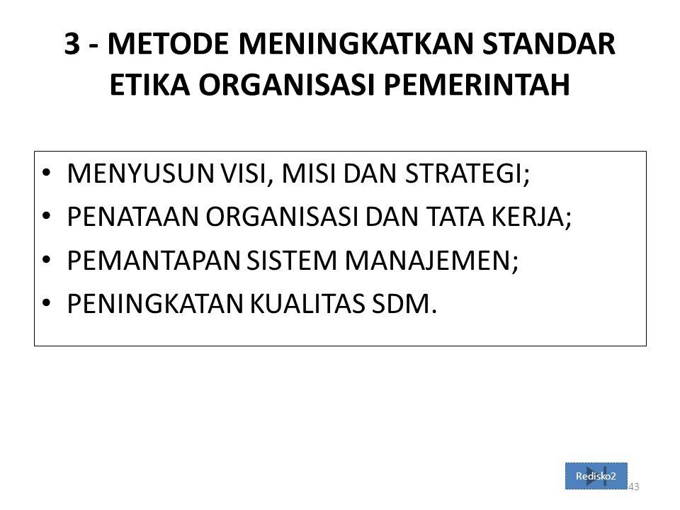 3 - METODE MENINGKATKAN STANDAR ETIKA ORGANISASI PEMERINTAH