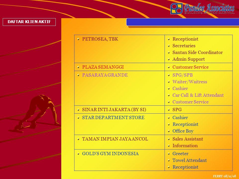 Santan Side Coordinator Admin Support PLAZA SEMANGGI Customer Service