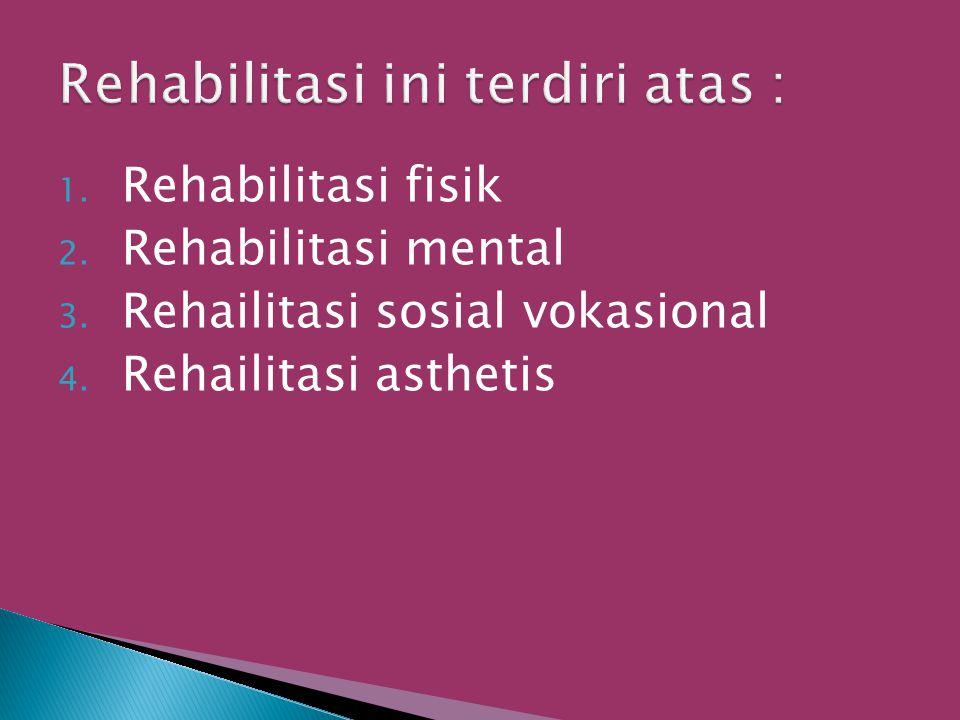 Rehabilitasi ini terdiri atas :