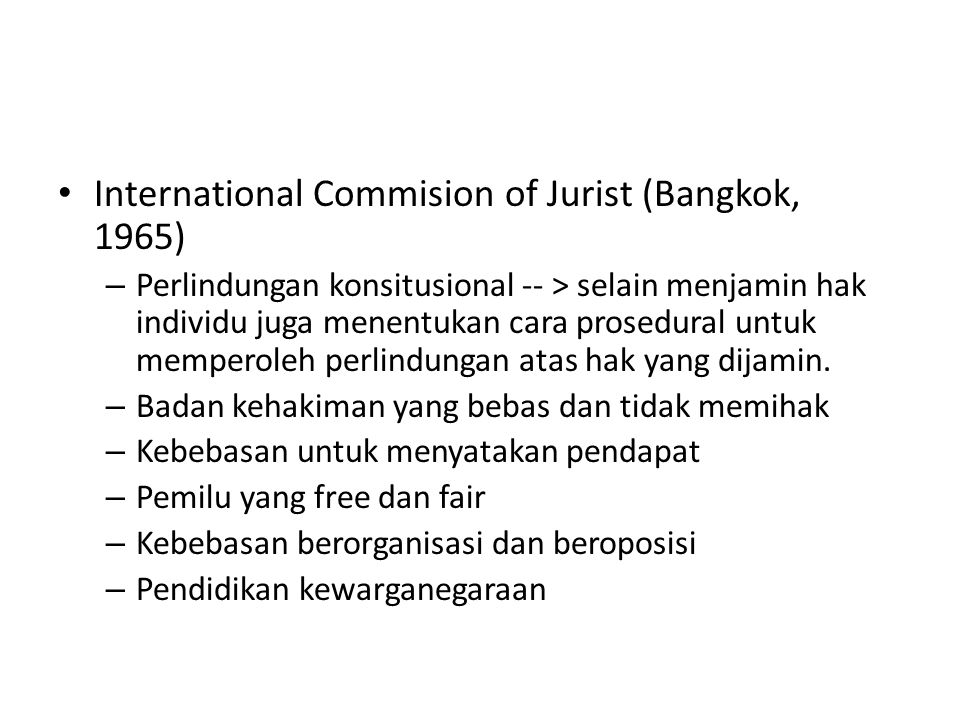 International Commision of Jurist (Bangkok, 1965)