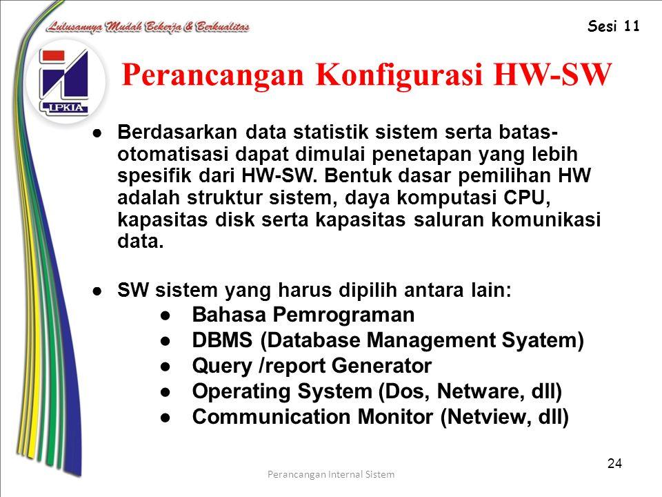Perancangan Konfigurasi HW-SW