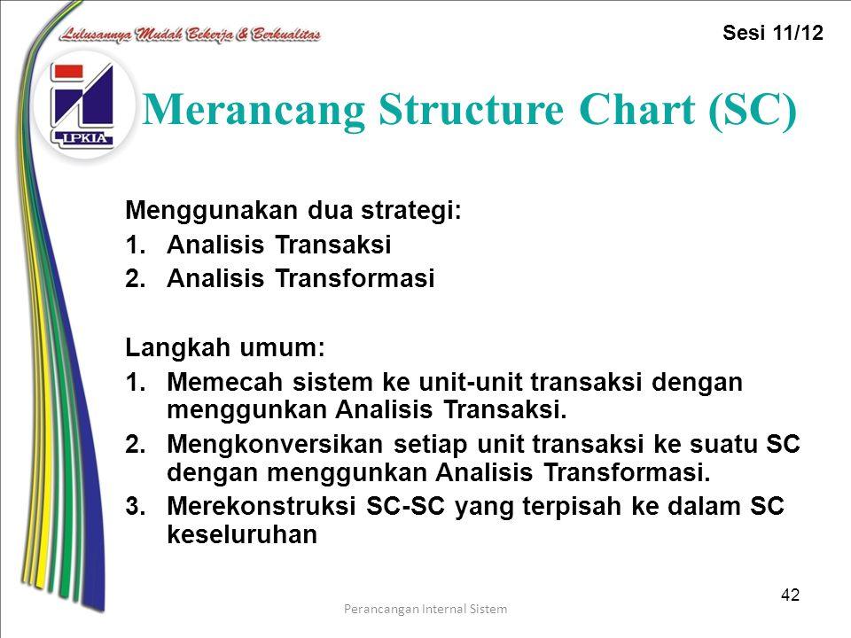 Merancang Structure Chart (SC)