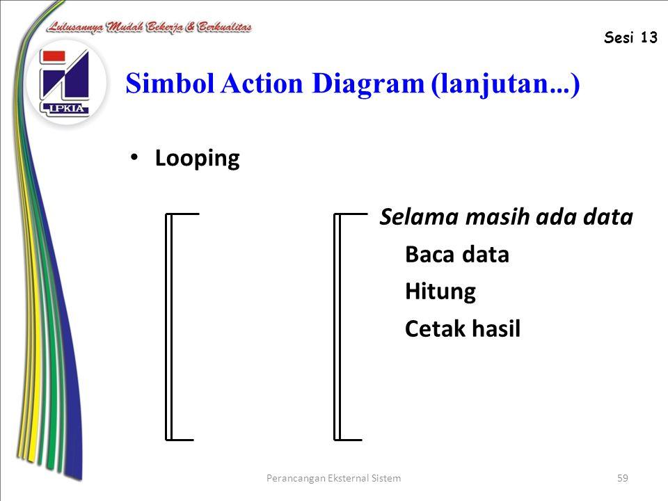 Simbol Action Diagram (lanjutan…)