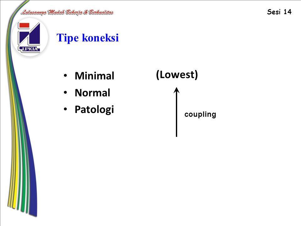Sesi 14 Tipe koneksi Minimal Normal Patologi (Lowest) coupling