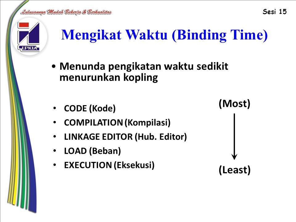 Mengikat Waktu (Binding Time)