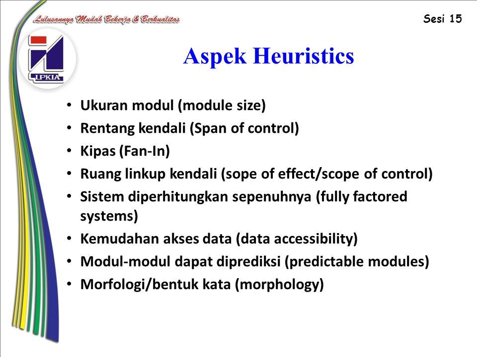 Aspek Heuristics Ukuran modul (module size)