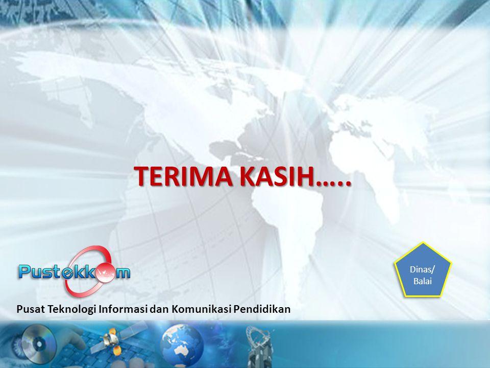 TERIMA KASIH….. Pusat Teknologi Informasi dan Komunikasi Pendidikan