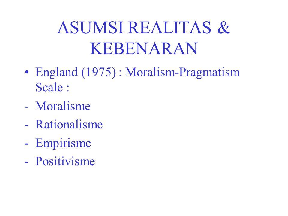 ASUMSI REALITAS & KEBENARAN