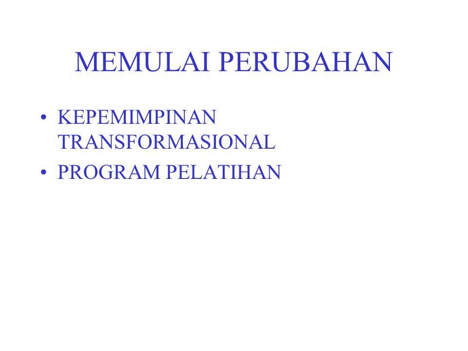 MEMULAI PERUBAHAN KEPEMIMPINAN TRANSFORMASIONAL PROGRAM PELATIHAN