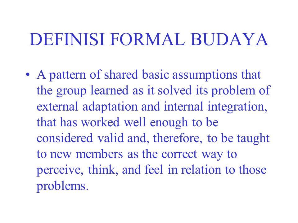 DEFINISI FORMAL BUDAYA