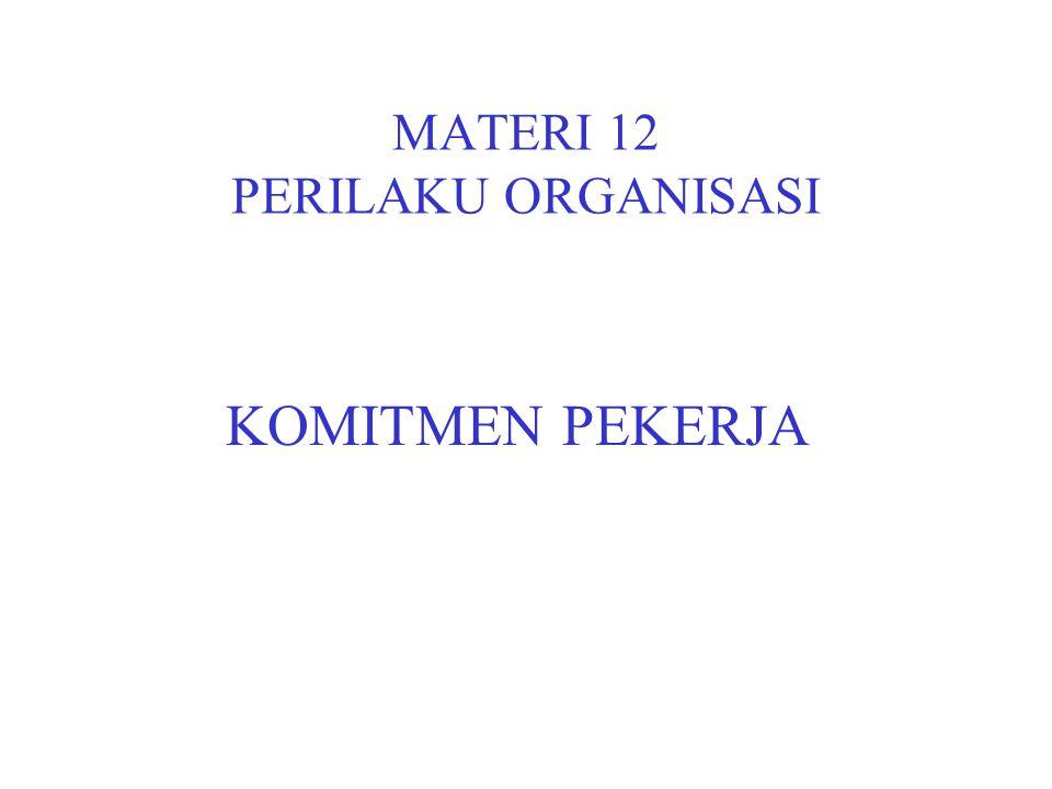 MATERI 12 PERILAKU ORGANISASI