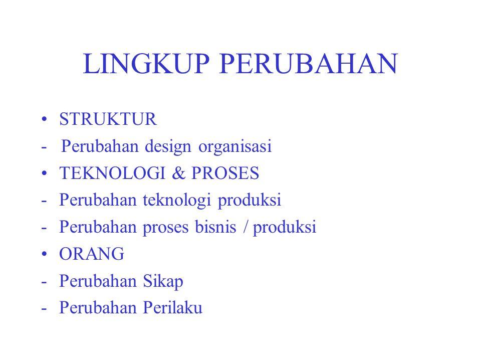 LINGKUP PERUBAHAN STRUKTUR - Perubahan design organisasi