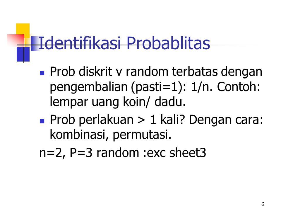 Identifikasi Probablitas