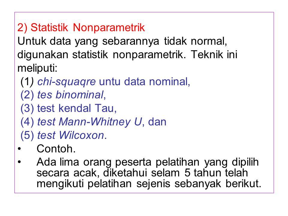 2) Statistik Nonparametrik