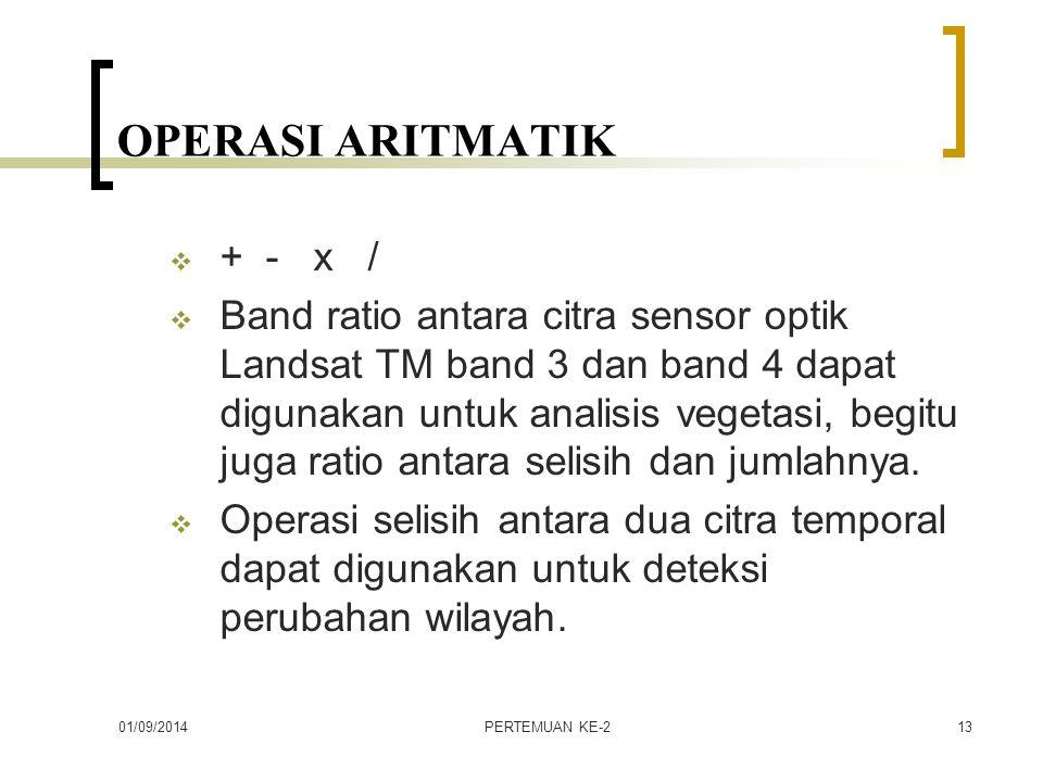 OPERASI ARITMATIK + - x /