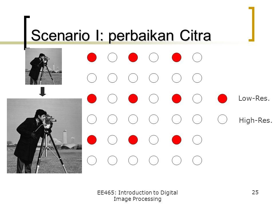 Scenario I: perbaikan Citra