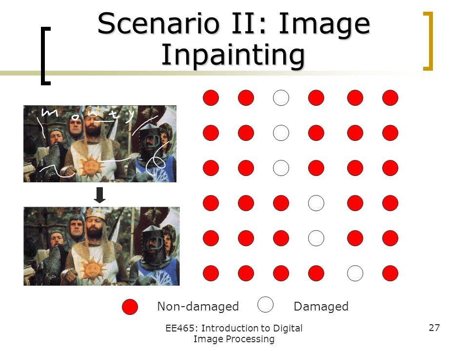 Scenario II: Image Inpainting