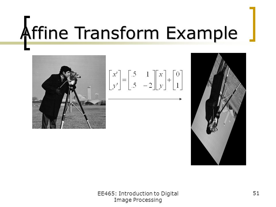 Affine Transform Example