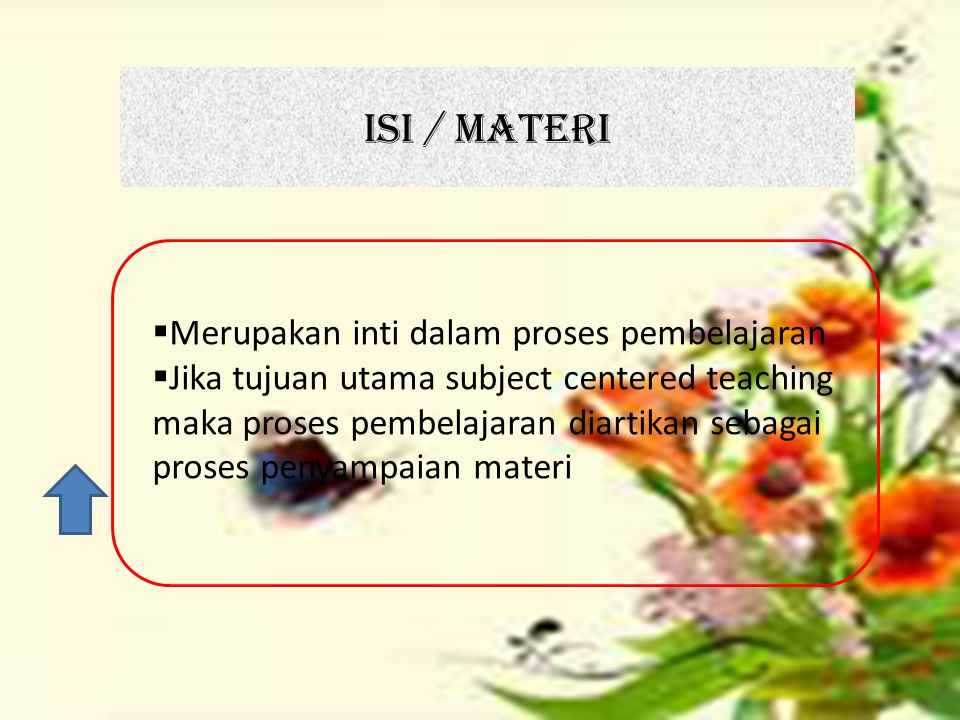 ISI / MATERI Merupakan inti dalam proses pembelajaran