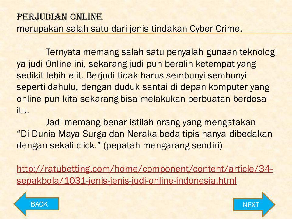 merupakan salah satu dari jenis tindakan Cyber Crime.