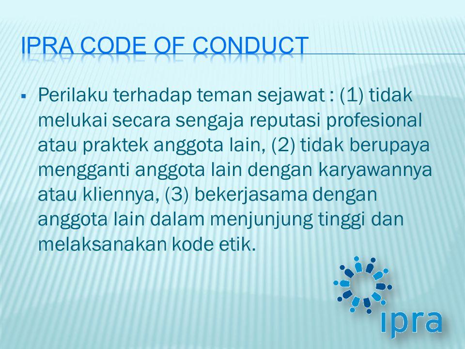 IPRA Code of Conduct