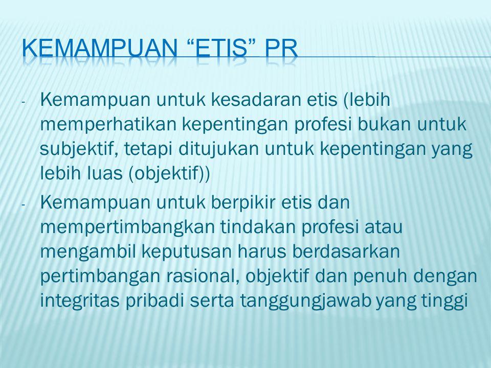 Kemampuan etis pr