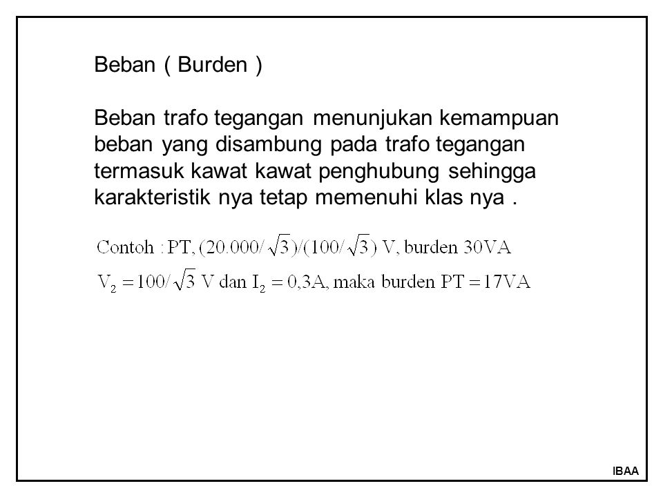 Beban ( Burden )