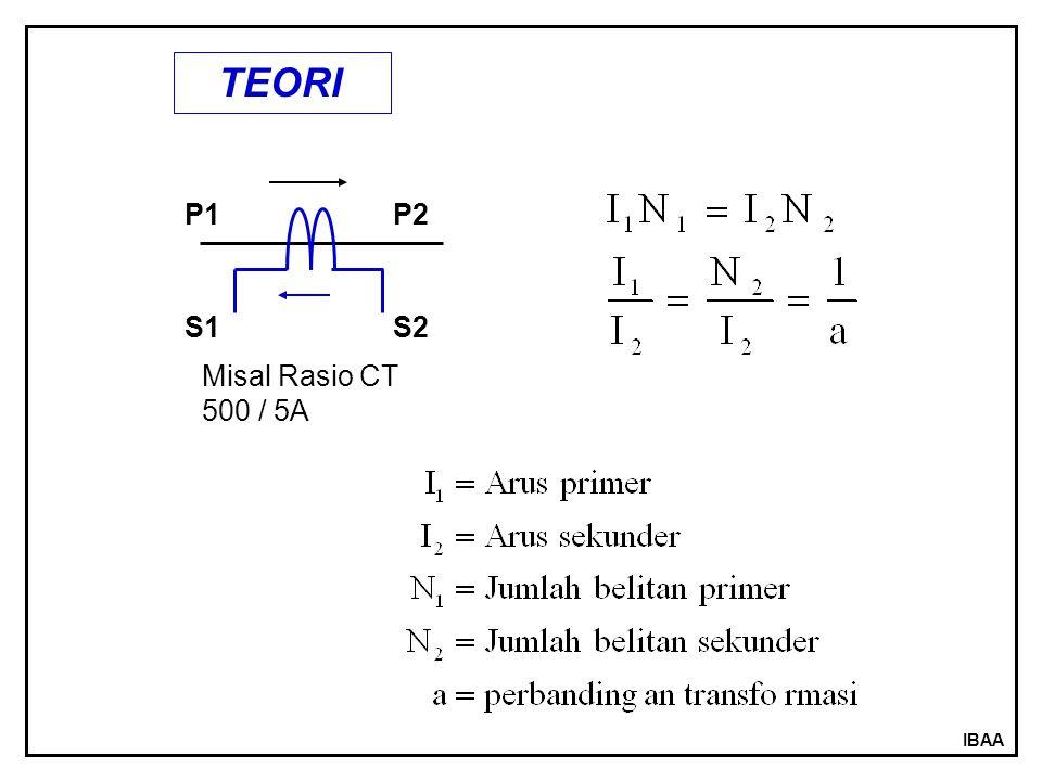 TEORI P1 P2 S1 S2 Misal Rasio CT 500 / 5A IBAA