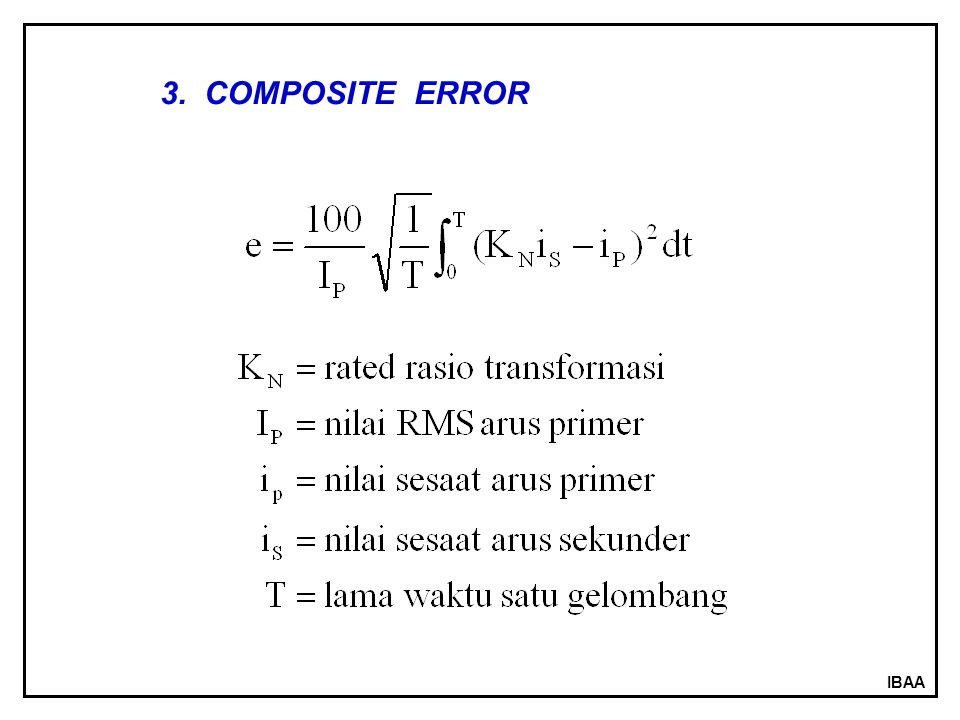 3. COMPOSITE ERROR IBAA