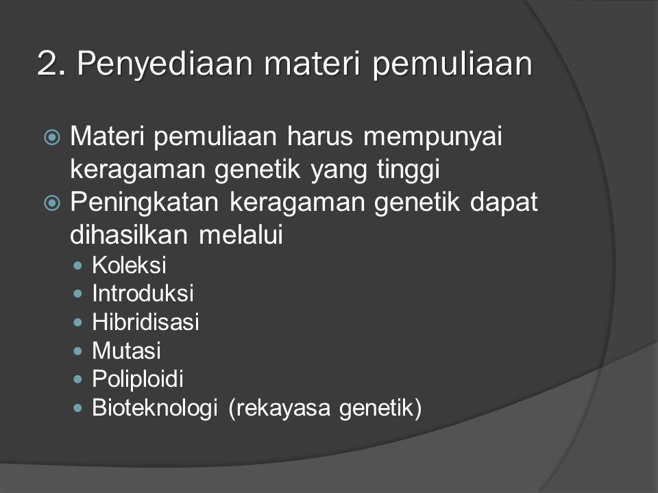 2. Penyediaan materi pemuliaan