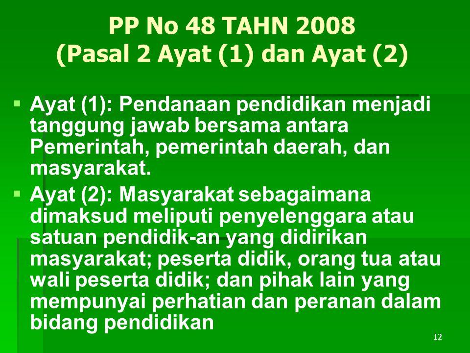 PP No 48 TAHN 2008 (Pasal 2 Ayat (1) dan Ayat (2)