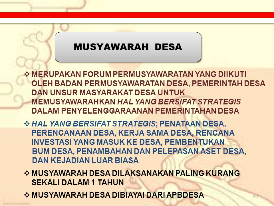 MUSYAWARAH DESA